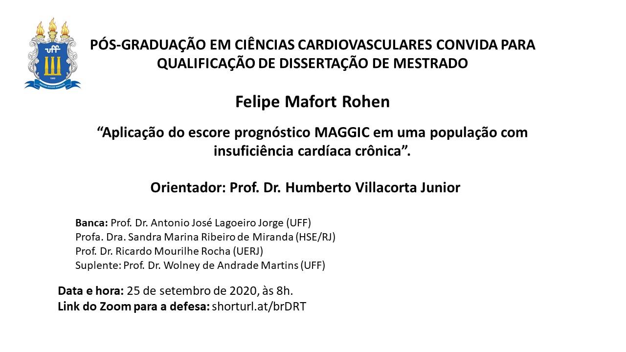 Qualificação de dissertação de mestrado - Felipe Mafort