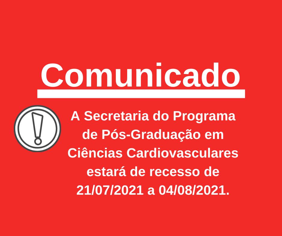 Aviso Férias Secretaria 2021/2